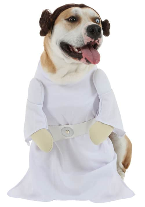 Princess Leia Dog Costume - Disney Dog Costume - Dog Halloween Costume