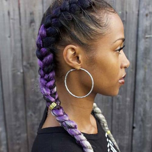 Purple 2 Goddess Braids