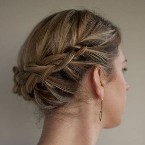 Short Hair Braided Crown