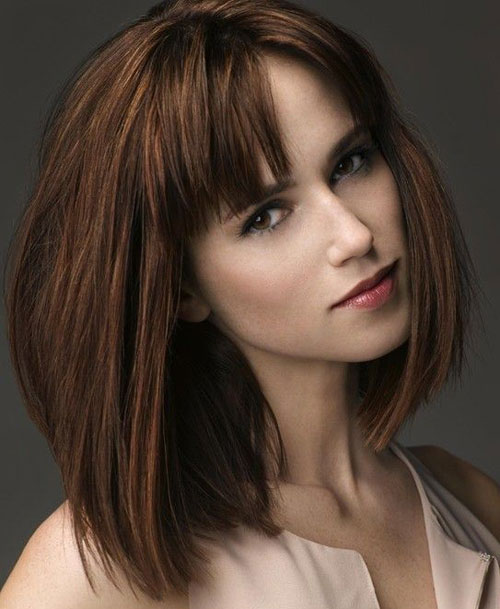 Short to Medium Hairstyles - Medium Length Blunt Bob - Straight Bob
