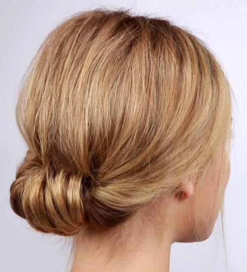 Simple Chignon Updo for Short Hair - Short Hairstyle Ideas for Women