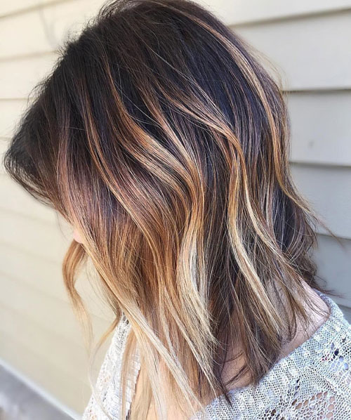 Trendy Balayage Hair Color Medium hair - Medium Hairstyles Balayage