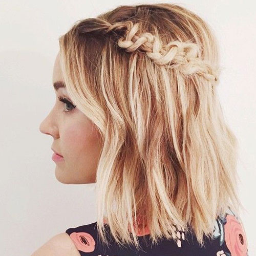 Unique Side Braid for Short Hair - cute updos for short hair