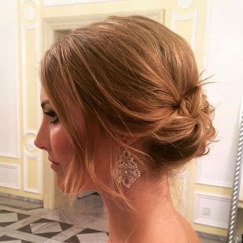 Updos for short Hair Messy Knots