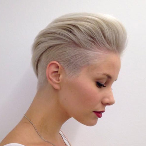 Bold Short Haircuts For Women - Fauxhawk Haircut For Women