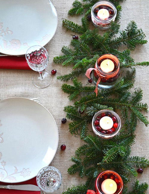 Christmas Centerpieces with Candles