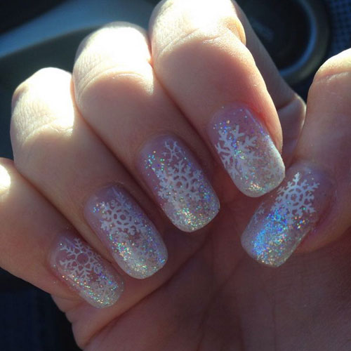 Christmas Nail Art Ideas - Winter Nails - Snowflake Nail Designs