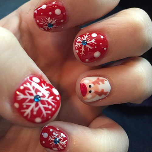 Christmas Nail Art - Red Christmas Nails