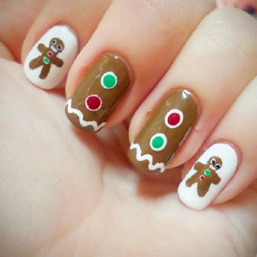 Christmas Nails - Gingerbread Nails