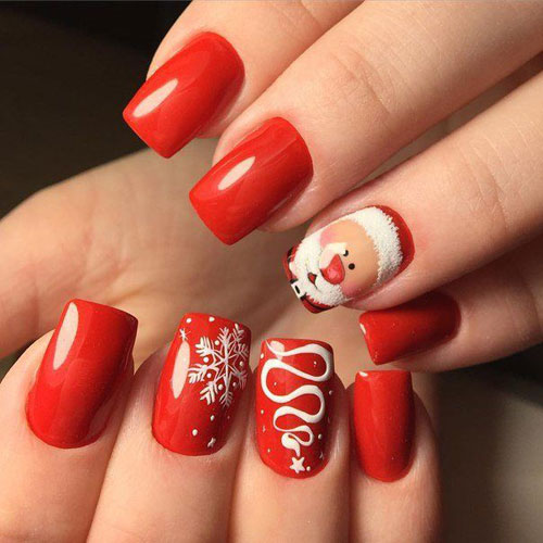 Christmas Nails - Santa Christmas Nail Art