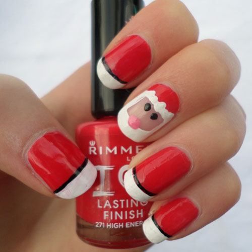 Cute Christmas Nail Designs - Santa Nails