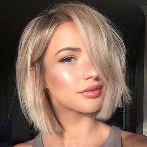 Cute Short Haircuts For Women - Blonde Bob Haircut - Bob Hairstyle