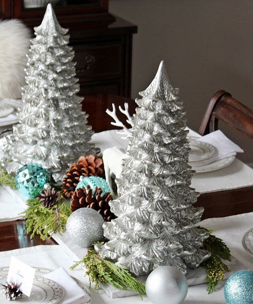 DIY Christmas Centerpiece - Christmas Tree Table Decorations