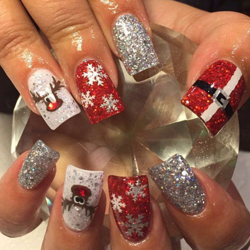 Detailed Christmas Nail Designs