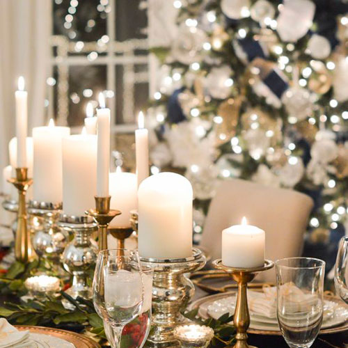 Elegant Christmas Centerpieces - Christmas Centerpieces with Candles