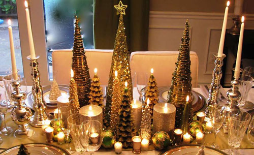 Elegant DIY Christmas Centerpieces - Christmas Tree Table Decorations