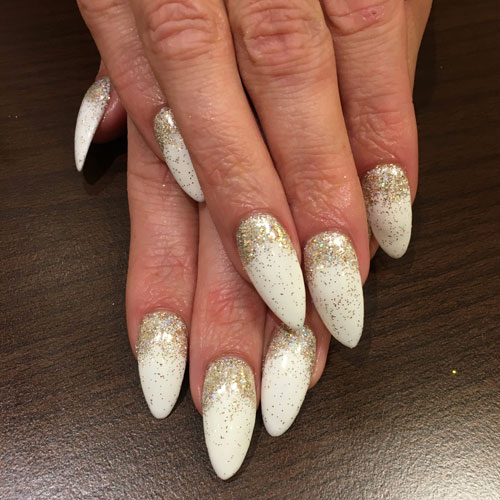 Gold Christmas Nails - Winter Nail Ideas and Designs