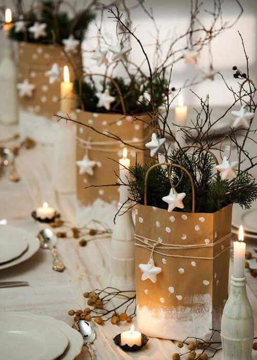 Holiday Centerpieces - Simple DIY Table Centerpieces