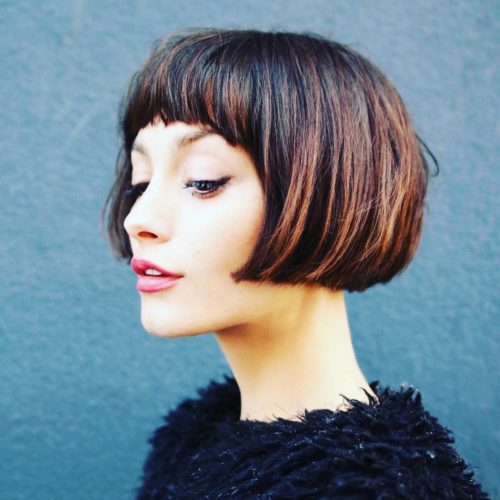 Short Haircut - Classic Bob Haircut with Bangs