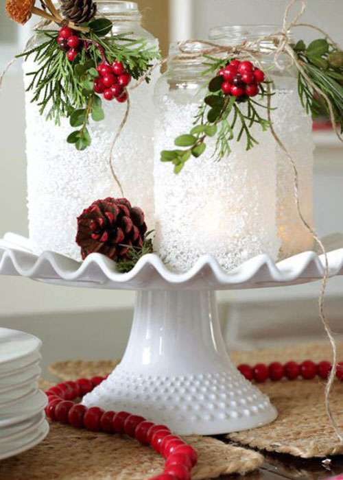 Table Centerpieces - Candle Christmas Centerpieces