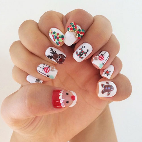 The Best Christmas Nails - Christmas Nail Art