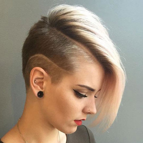 Undercut Short Bob Haircut and Hairstyle