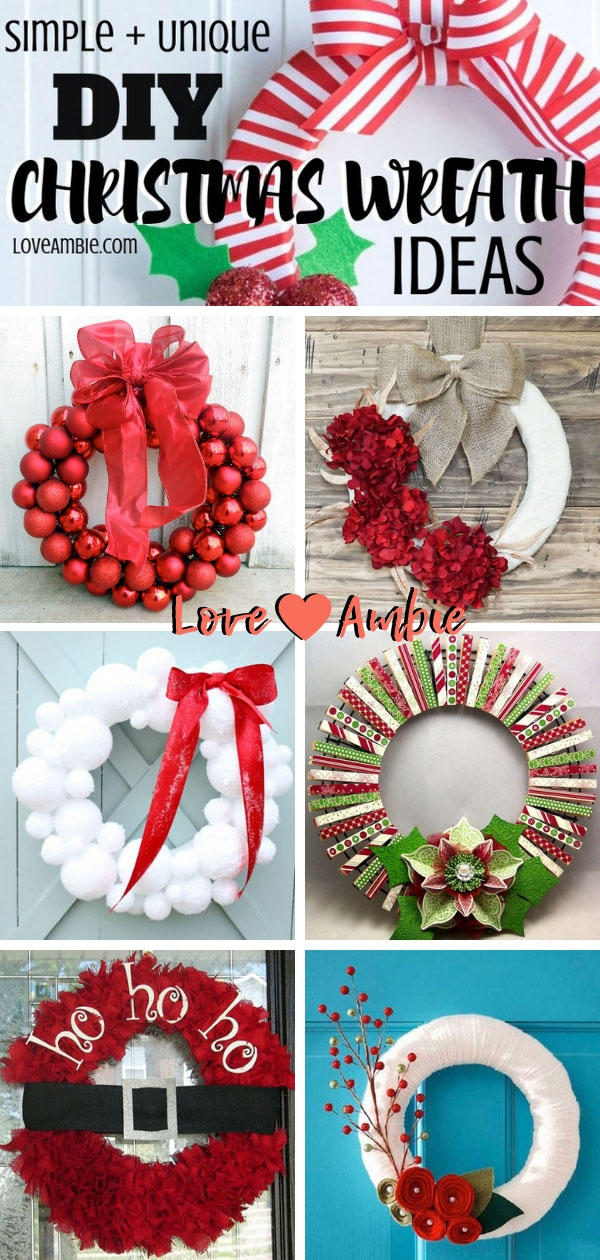 Best DIY Christmas Wreath Ideas - Simple and Unique Christmas Decor