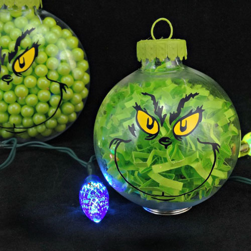 DIY Grinch Ornament - Homemade Holiday Ornament
