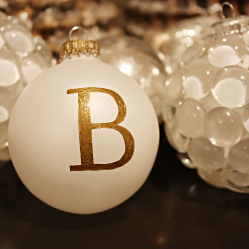 DIY Monogram Ornament - Christmas Ornament - Christmas DIY