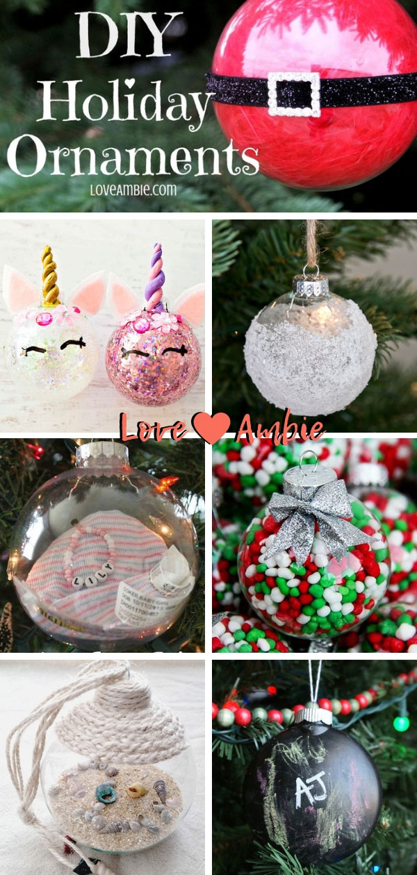 Simple And Creative Holiday Ornaments - DIY Christmas Ornaments - Clear Glass Ball Ornaments