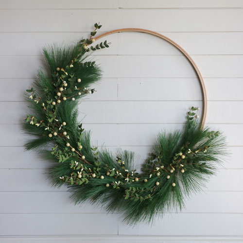 Simple Evergreen Wreath - DIY Wreath