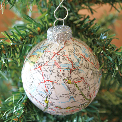 Travel Ornament - DIY Glass Ornament