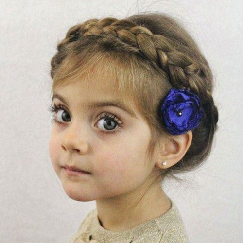 Adorable Braided Headband with Flower - Little Girl Hairstyles