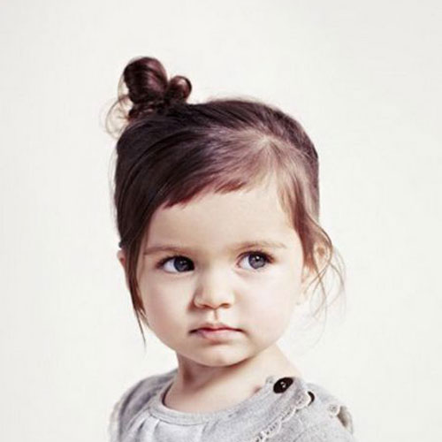 Adorable Easy Tiny Twist Top Knot Bun - Toddler Hairstyles