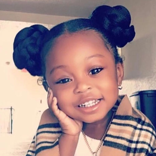 Adorable Little Black Girl's Hairstyles - Black Toddler Hairstyles Double Bun