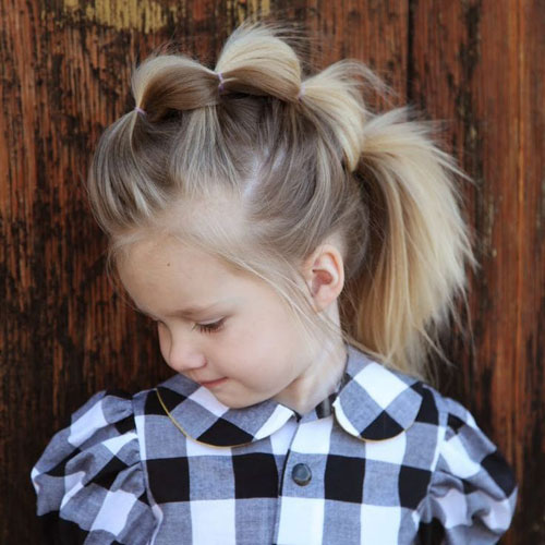 Bubble Ponytail - Little Girl Hairstyles