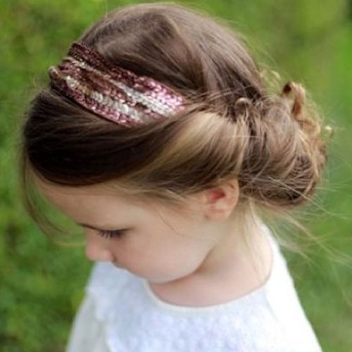 Cute Little Girl Hairstyles - Wrapped Headband - Easy Little Girl Hairstyles