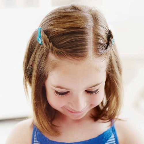 Double Twist Hairstyles For Little Girls