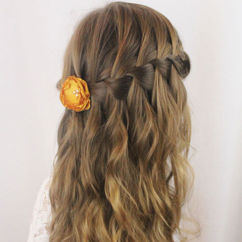 Easy Little Girl Braids Half Updo