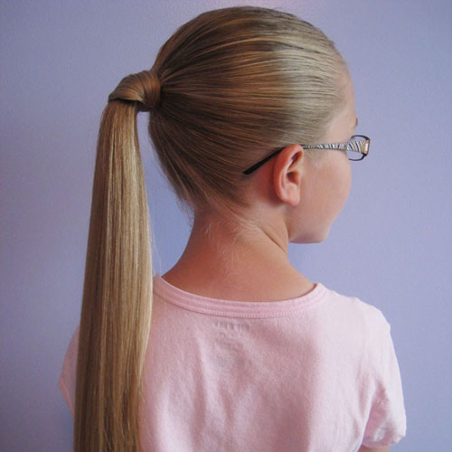 Easy Little Girl Hairstyles - Wrapped Ponytail