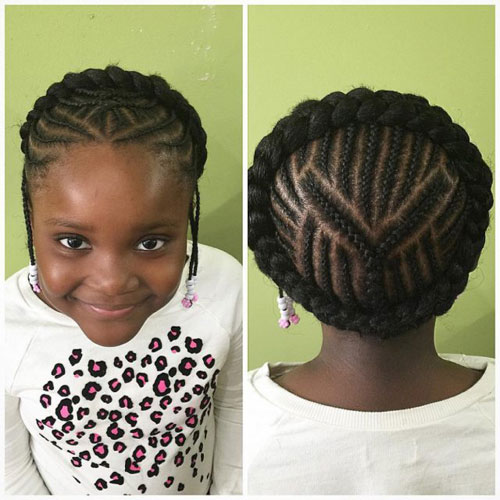 Little Black Girl's Hairstyle - Goddess Braids For Little Girl