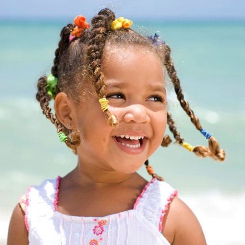 Little Black Girl's Hairstyles - Little Girl Braids