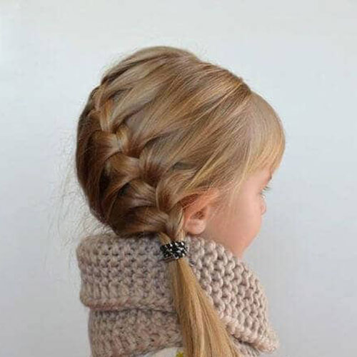Little Girl Braid Styles - Side Braid Hairstyle
