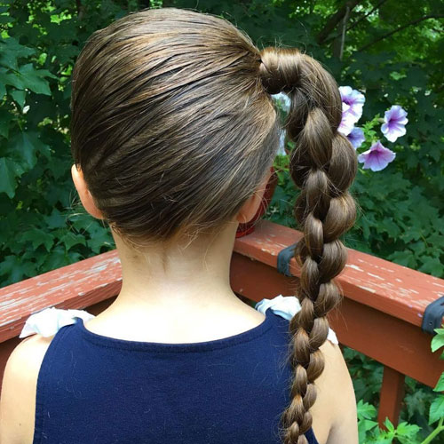 Little Girl Braids - Cute Hairstyles - Side Braided Ponytail