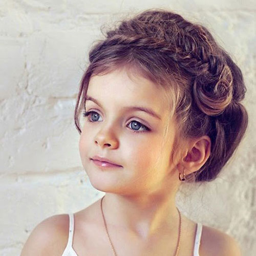 Little Girl Hairstyles - Braided Headband - Easy Elegant Hairstyles