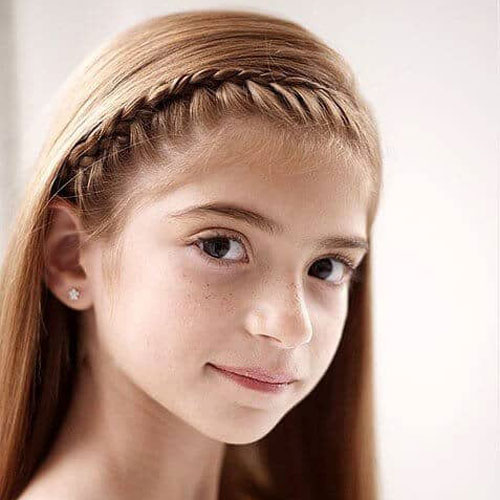 Little Girl Hairstyles - Braided Headband