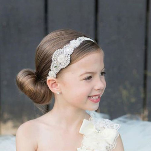 Little Girl Hairstyles - Easy Hairstyles Low Bun