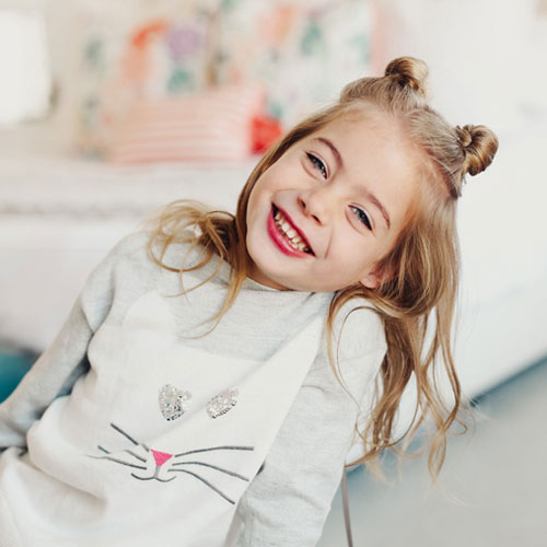 Little Girl Hairstyles - Half Up Double Bun Twist