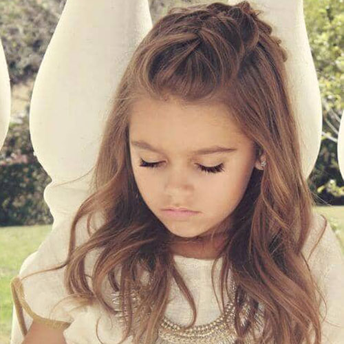 Little Girl Hairstyles - Half Updo Braided Hair