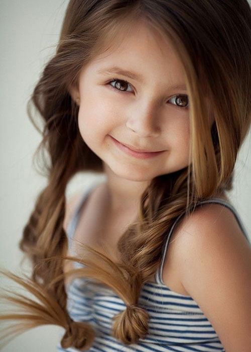 Little Girl Hairstyles - Simple Pigtails Hairstyle
